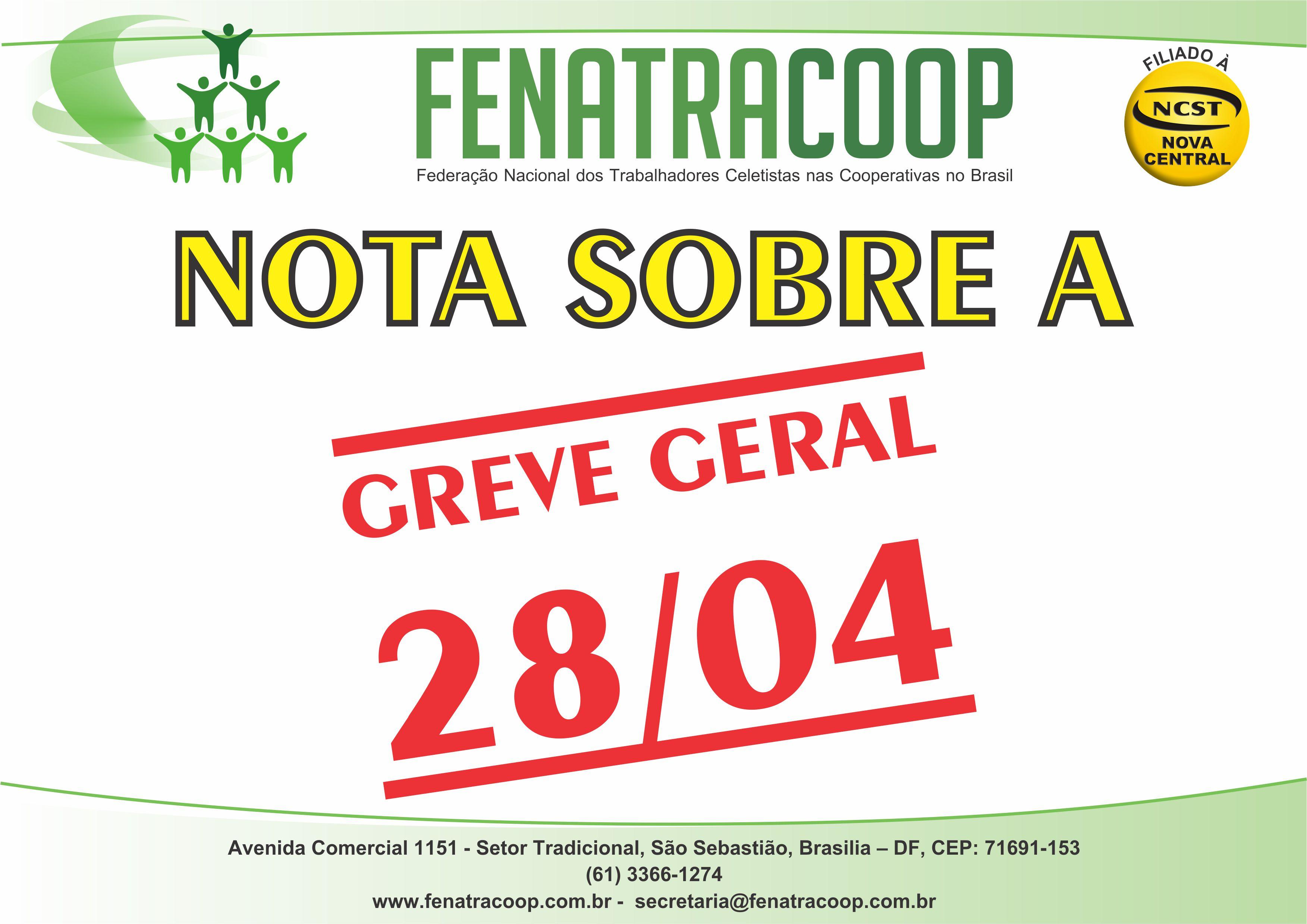 NOTA SOBRE A GREVE GERAL 28/04