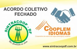 SINTRACOOP – DF FIRMA ACORDO COLETIVO COM A COOPLEM IDIOMAS COM AUMENTO REAL DE 2,5%